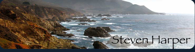 Steven Harper, image of Big Sur ocean shoreline